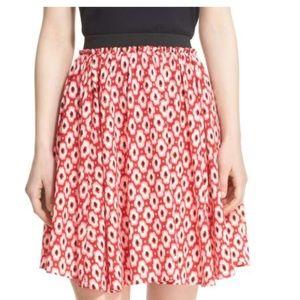 kate spade posy ikat print full skirt size xs new